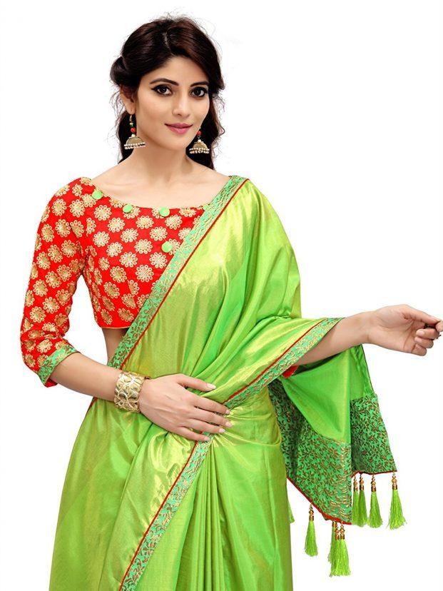 saree blouse designs, silk saree blouse designs
