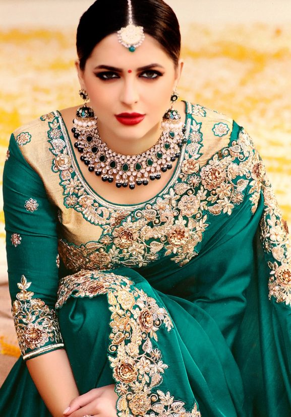 best silk saree blouse designs