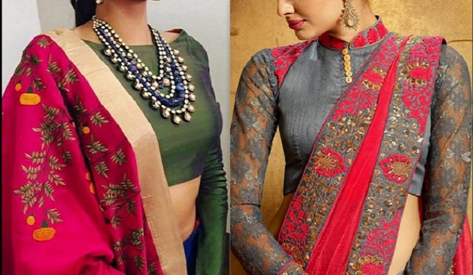 long blouse designs for saree | saree blouse designs – styleoflady