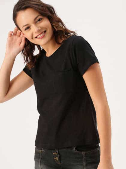 Black with Black t-shirt women