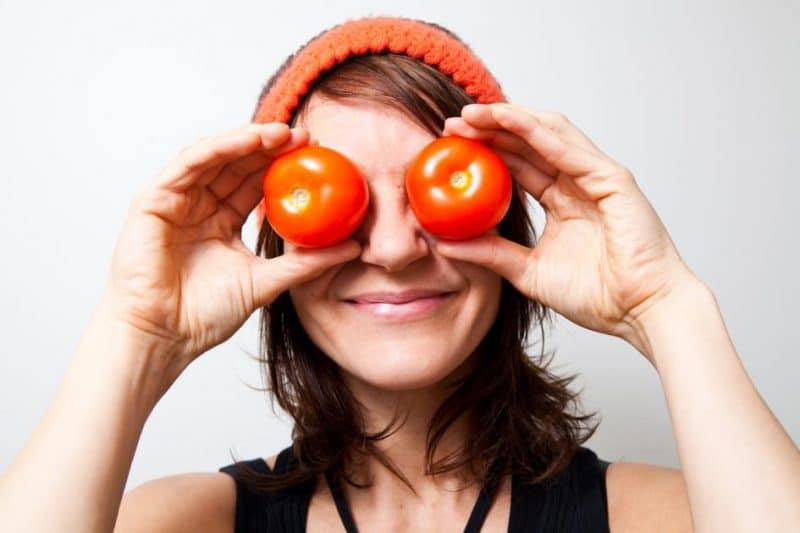 get rid of Dark Circles Tomatoes