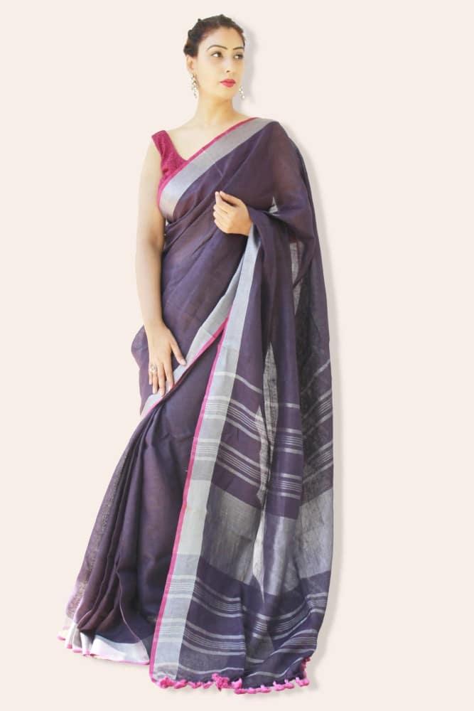 Linen Sarees in India