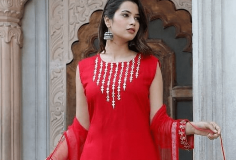 7 tips to style classic red Kurtis in different ways